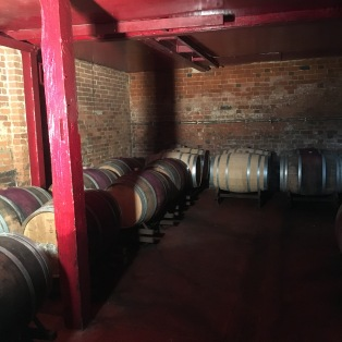 Barrels in storeroom at Stanlake Park