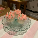 Tulip decorated vanilla cupcakes decorated by Cuppies n Cream
