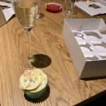 My rose cupcake and fizz
